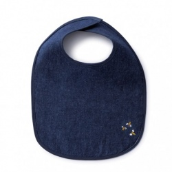Hemp Denim Baby Bib - Reversible